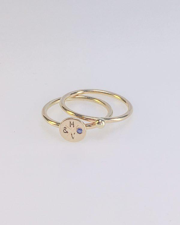 Mara & Villosa ringen set - babyblauw