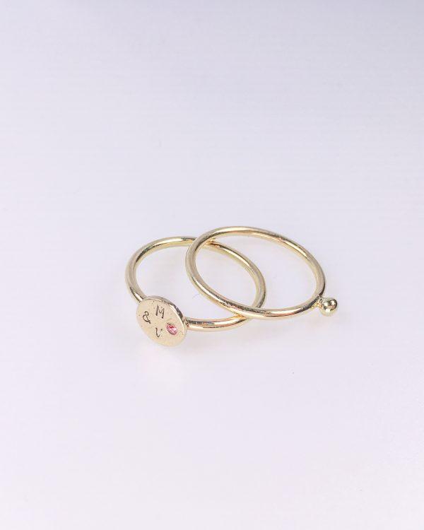 Mara & Villosa ringen set - rood