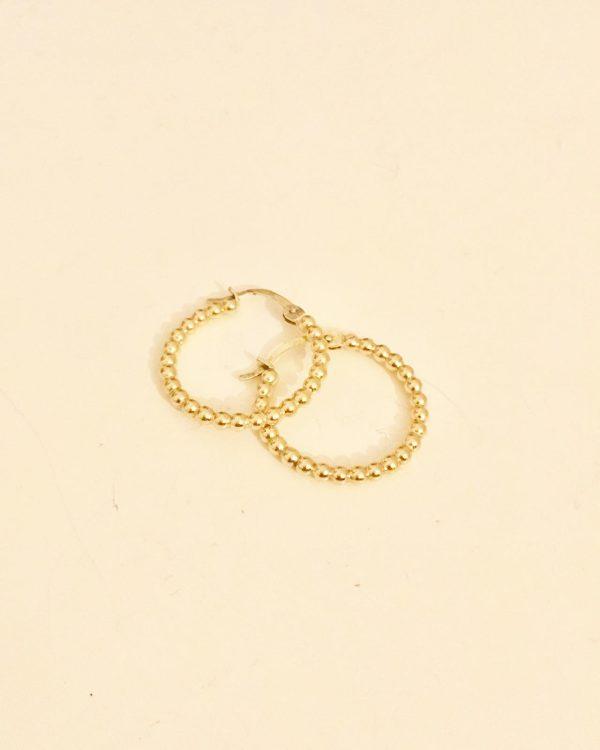 Gouden oorbellen bolletjes
